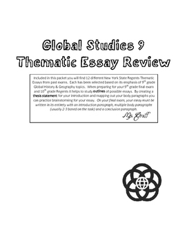 Global Studies NYS Regents Thematic Essay Review - 9th Grade!