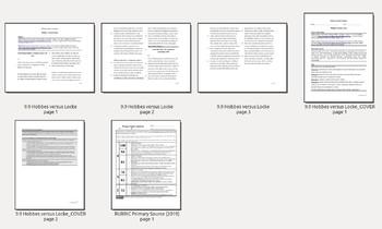 Global Studies Primary Source Analysis Essay Prompt: Hobbes v. Locke