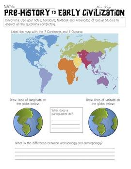 Global Studies Skills Packets (8 total)