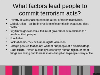 Global Terrorism Powerpoint - Global Issues