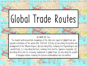 Global Trade Routes Task Cards - World History II
