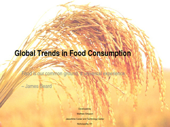 Global Trends in Food Consumption