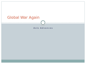 Global War Again...Axis Advances Power Point and Notes Sheet