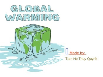 Topic Global Warming - Lesson Powerpoint