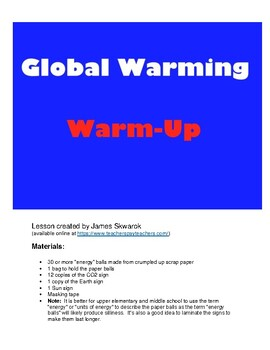 Global Warming Climate Change Hands-On Activity