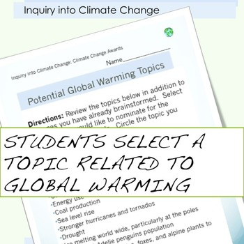 Earth Day Global Warming Awards for climate change unit