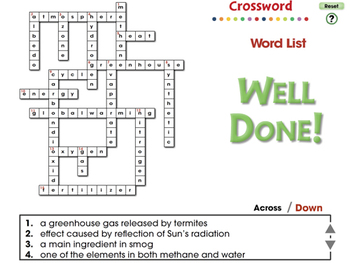 Global Warming CAUSES: Crossword - MAC Gr. 5-8