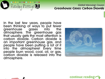 Global Warming CAUSES: Greenhouse Gases: Carbon Dioxide - MAC Gr. 5-8