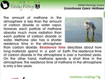Global Warming CAUSES: Greenhouse Gases: Methane - MAC Gr. 5-8