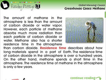 Global Warming CAUSES: Greenhouse Gases: Methane - PC Gr. 5-8