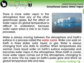 Global Warming CAUSES: Greenhouse Gases: Water Vapor - MAC Gr. 5-8