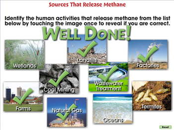 Global Warming CAUSES: Sources that Release Methane - NOTEBOOK Gr. 5-8