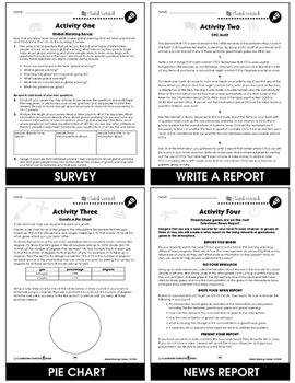 Global Warming: Causes Gr. 5-8 - BONUS WORKSHEETS