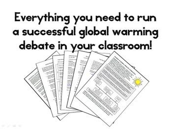 Global Warming Debate - Human vs. Natural (Climate Change Higher Level Thinking)
