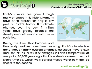 Global Warming EFFECTS: Climate and Human Civilizations - MAC Gr. 5-8
