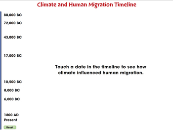 Global Warming EFFECTS: Climate and Human Migration Timeline - PC Gr. 5-8