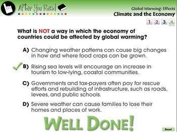 Global Warming EFFECTS: Climate and the Economy - PC Gr. 5-8