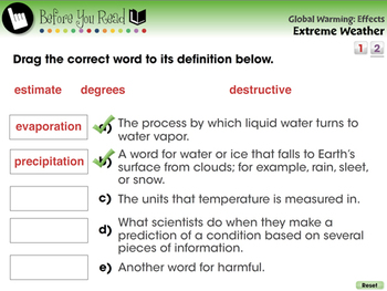 Global Warming EFFECTS: Extreme Weather - MAC Gr. 5-8