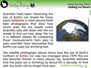 Global Warming EFFECTS: Melting Ice Sheets - NOTEBOOK Gr. 5-8