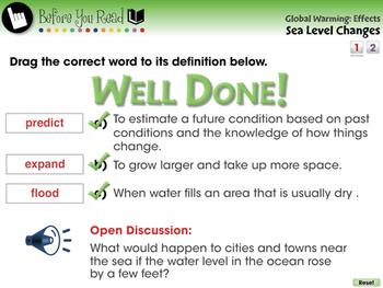 Global Warming EFFECTS: Sea Level Changes - MAC Gr. 5-8