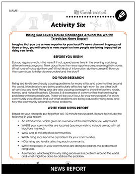 Global Warming: Effects Gr. 5-8 - BONUS WORKSHEETS