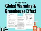 Greenhouse Effect Worksheet