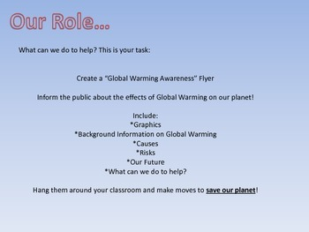 Global Warming Lesson Plan and Awareness Flyer