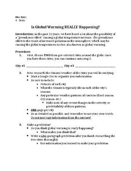 Global Warming Math Project