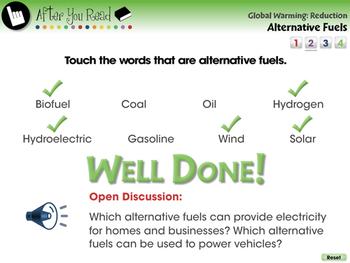 Global Warming REDUCTION: Alternative Fuels - NOTEBOOK Gr. 5-8