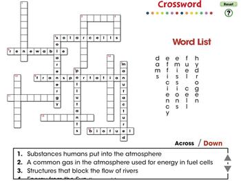 Global Warming REDUCTION: Crossword - PC Gr. 5-8