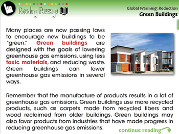 Global Warming REDUCTION: Green Buildings - PC Gr. 5-8