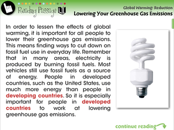 Global Warming REDUCTION: Lowering Your Greenhouse Gas Emissions - PC Gr. 5-8