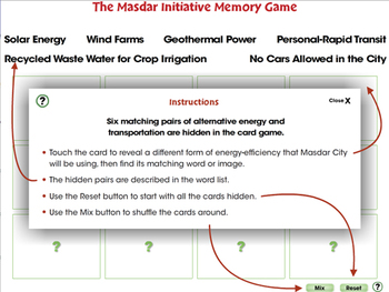Global Warming REDUCTION: Memory Match Game - NOTEBOOK Gr. 5-8