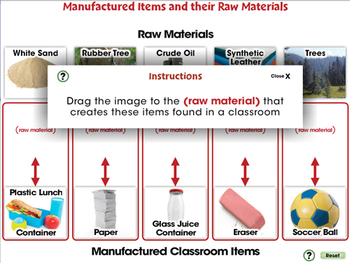 Global Warming REDUCTION: Raw Materials of Manufactured Items - MAC Gr. 5-8