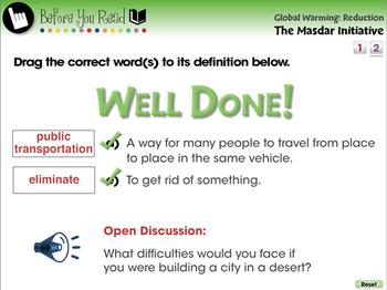 Global Warming REDUCTION: The Masdar Initiative - MAC Gr. 5-8