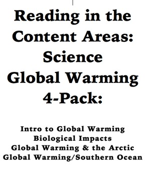 Reading in the Content Areas: Global Warming 4-Pack