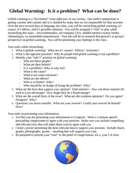 Global Warming Research Project