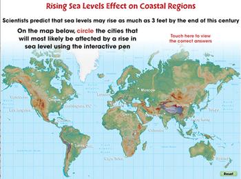 Global Warming: Rising Sea Levels Effect on Coastal Regions - PC Gr. 5-8