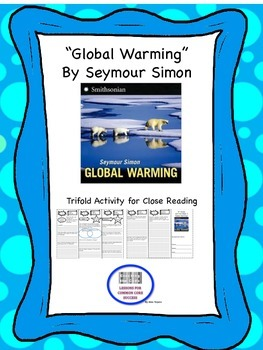 """""""Global Warming"""" Trifold Activity McGraw Hill Reading Wonders 5th Grade"""