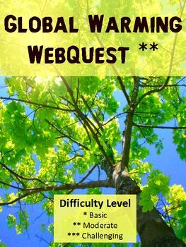 Global Warming Webquest Q&A for K - 2 advanced students