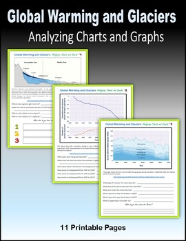 Global Warming and Glaciers - Analyzing Charts and Graphs