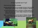Global Warming and the Animal Kingdom