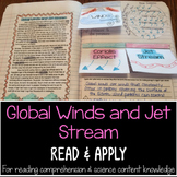 Global Winds and Jet Stream Reading Comprehension Interactive Notebook