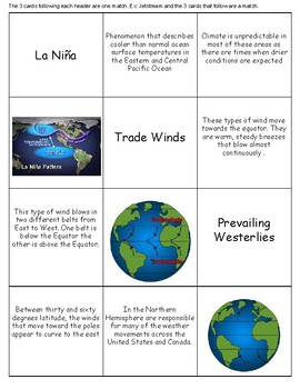 Global Winds and Ocean Currents Spoon Game