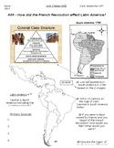 Global - Worksheet - Unit 02 - French/Latin American Rev's - 10th Grade - 4/5