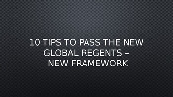 Global - Worksheet - Unit: New Regents Framework Concept - 10th Grade - PP