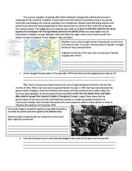 Global/World History Aftermath of WWII
