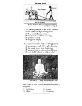 Global/World History - Artifact/Political Cartoon Skills Quiz 1/4 - Units 1-20