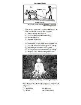 Global History - 9th Grade - Skills Quiz - Primary Source Images (1/4)