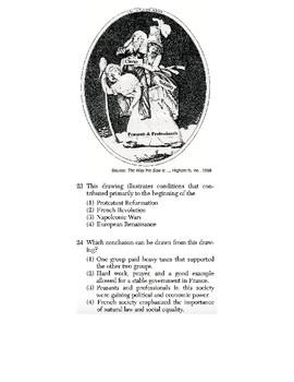 Global History - Artifact / Political Cartoon Skills Quiz 2 of 4 (Units 21-30)